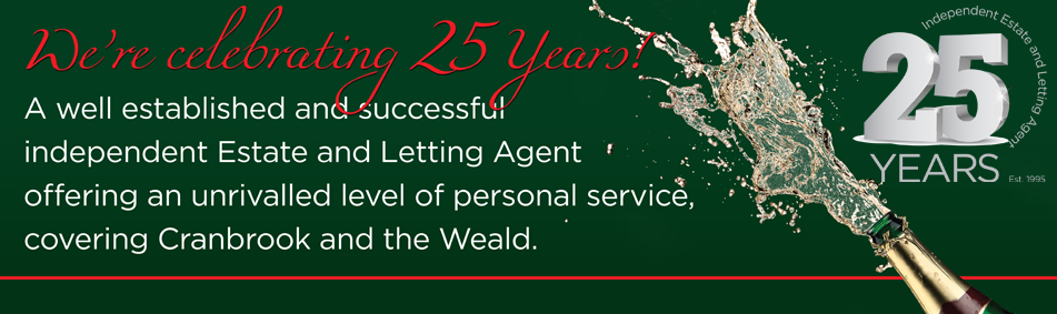 Lloyd Martin Estate and Letting Agents slide - 25 Years